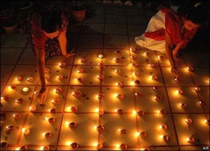 Diwali is celebrated in India
