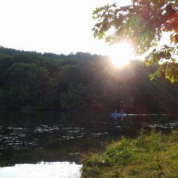 Boaters on Yellow Creek Lake.