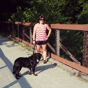 Murphy and I on the West Penn Trail outside of Saltsburg.