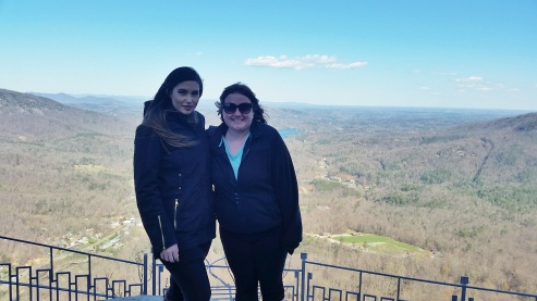 Kayshia and I at Chimney Rock